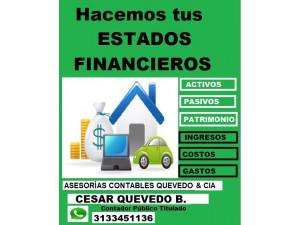 ESTADOS FINANCIEROS BALANCES