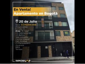 En venta!, Apartamento en Bogotá- 20 de Julio