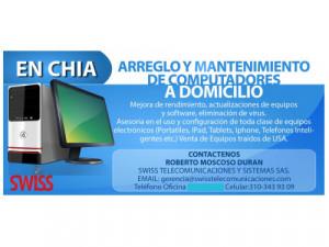 Mantenimiento de Computadores PC, Portatil, Mac. Domici...