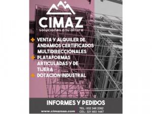 CIMAZ SAS - Alquiler de andamios y maquinaria para trab...