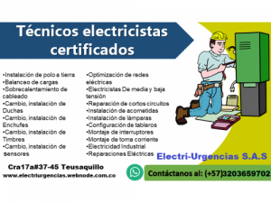 Técnicos electricistas certificados Bogotá